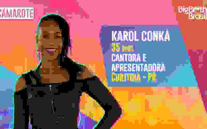 Karol Conká é participante do BBB21; conheça!