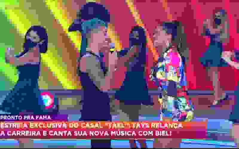 Casal Tael lança música e conta como vai o namoro no Hora do Faro